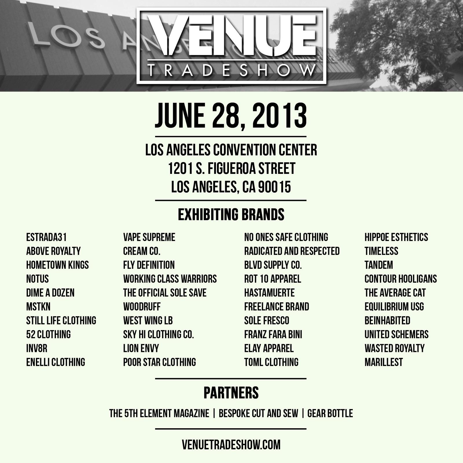 Venue Trade Show 6/28/13