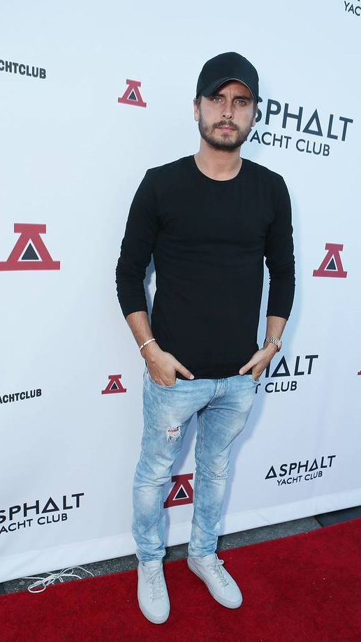 Scott Disick at the Asphalt Yacht Club launch party in Malibu
