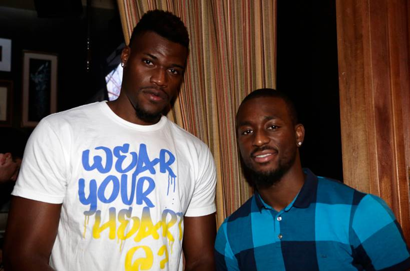 Jeff Adrien and Kemba Walker at the Asphalt Yacht Club launch party in Malibu