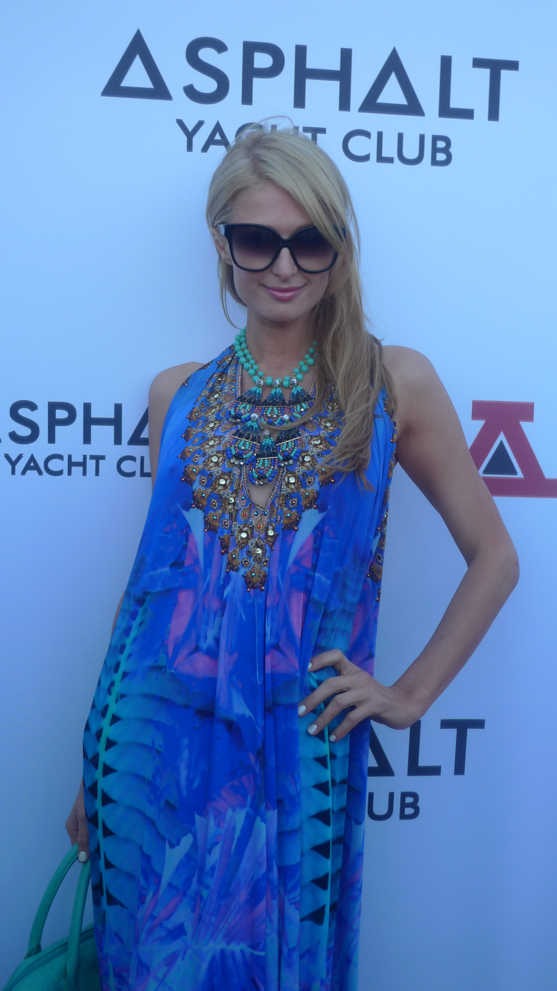 Paris Hilton at the Asphalt Yacht Club launch party in Malibu