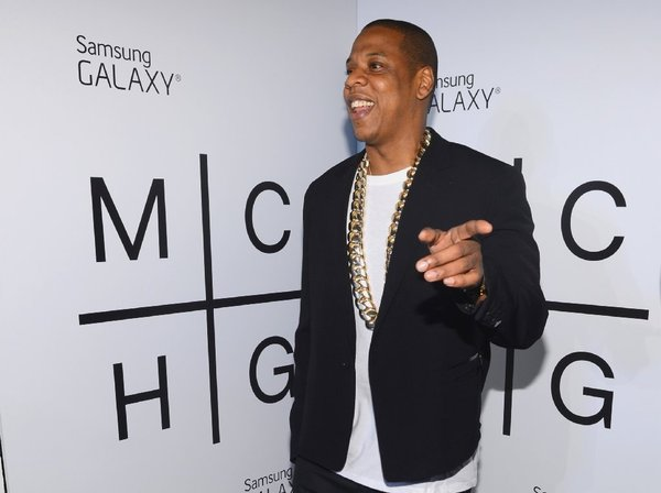 Jay-Z at a release party for Magna Carta Holy Grail