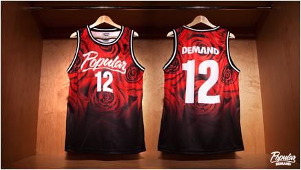 Popular Demand Rose Fade Basketball Jersey