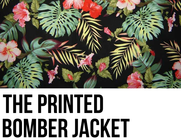 The Printed Bomber Jacket