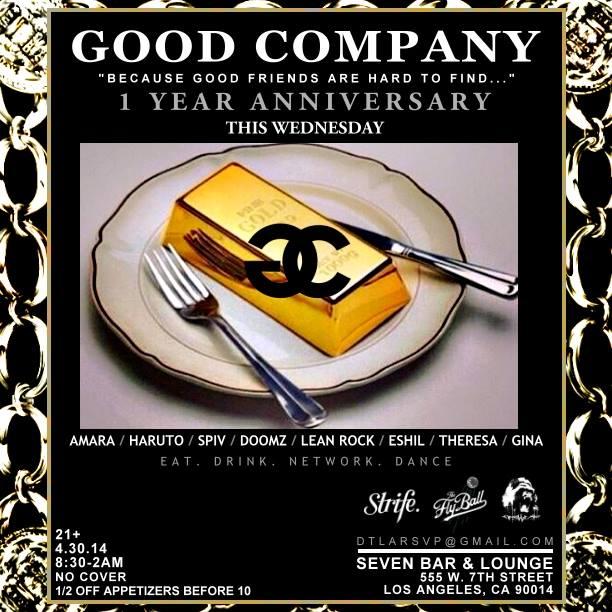 The Good Company One Year Anniversary Bash