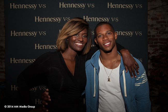 Rachel Johnson and Victor Cruz