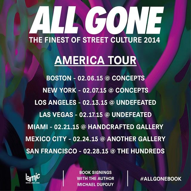 ALL GONE BOOK 2014 AMERICA TOUR