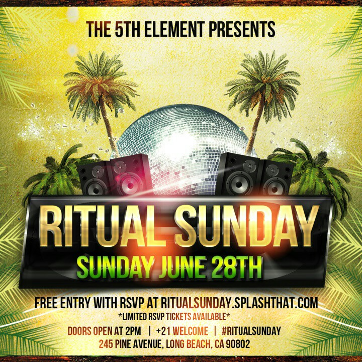 The 5th Element Magazine Presents: Ritual Sunday