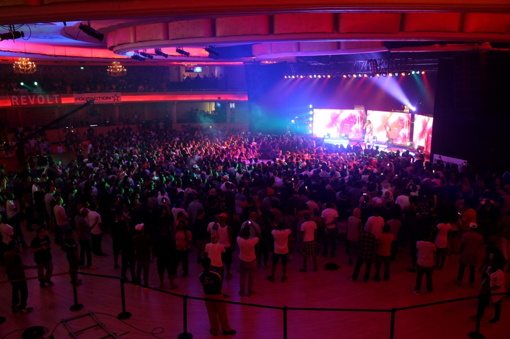 LOS ANGELES, CA - AUGUST 12: A general view of atmosphere at Future: The DS2 Takeover presented by Footaction at the Hollywood Palladium on August 12, 2015 in Los Angeles, California. (Photo by Imeh Akpanudosen/Getty Images for REVOLT)