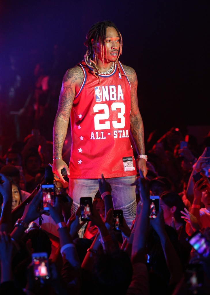 LOS ANGELES, CA - AUGUST 12: Future performs onstage at The DS2 Takeover presented by Footaction at the Hollywood Palladium on August 12, 2015 in Los Angeles, California. (Photo by Imeh Akpanudosen/Getty Images for REVOLT)