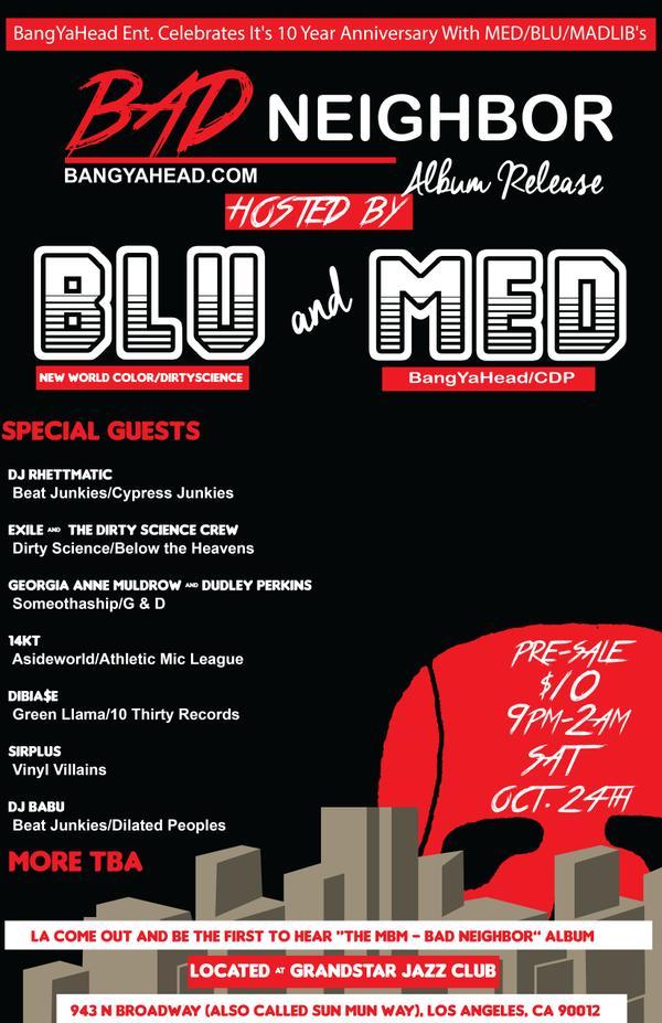MED, Blu & Madlib Set to Drop 'Bad Neighbor'