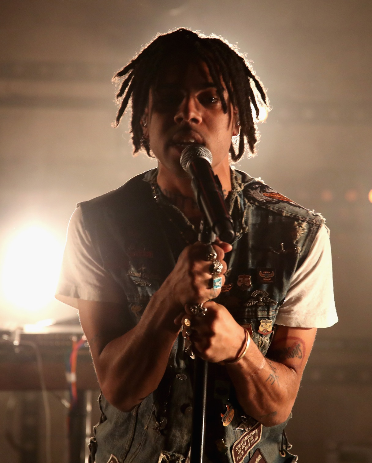 "LOS ANGELES, CA - NOVEMBER 10: Rapper Vic Mensa performs onstage at MTV's ""Wonderland"" LIVE Show on November 10, 2016 in Los Angeles, California. (Photo by Randy Shropshire/Getty Images for MTV) *** Local Caption *** Vic Mensa"