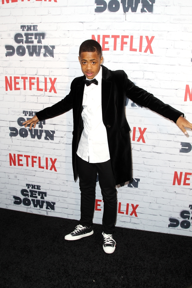 """- New York, NY - 4/5/17 - Netflix New York Kickoff Party for Part Two of """"The Get Down"""" -Pictured: Tremaine Brown Jr. -Photo by: Patrick Lewis/Starpix -Location: Irving Plaza"""