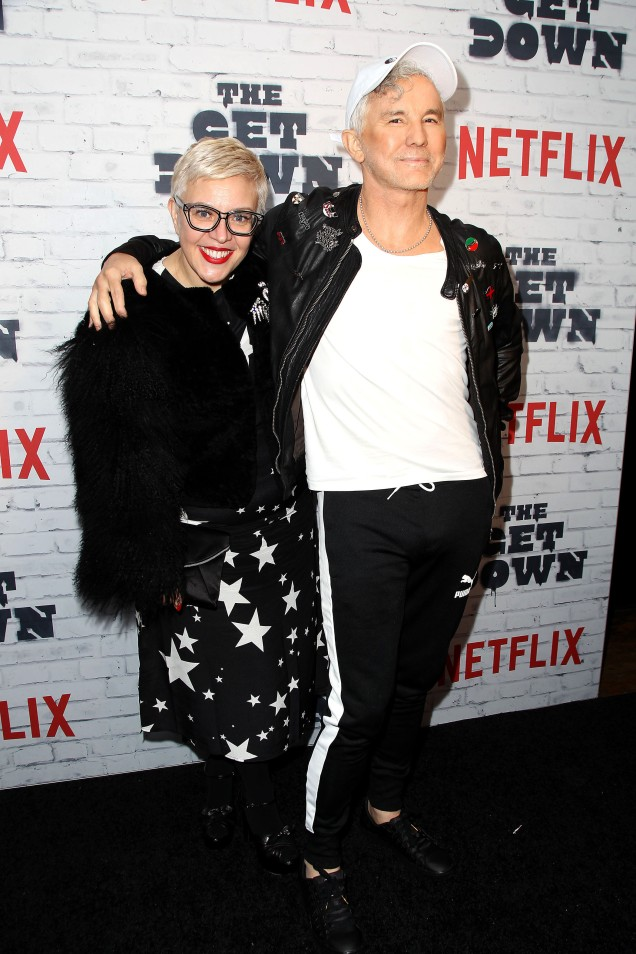 "- New York, NY - 4/5/17 - Netflix New York Kickoff Party for Part Two of ""The Get Down"" -Pictured: Catherine Martin, Baz Luhrmann -Photo by: Patrick Lewis/Starpix -Location: Irving Plaza"