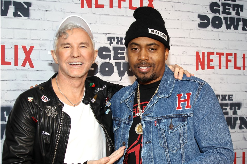"- New York, NY - 4/5/17 - Netflix New York Kickoff Party for Part Two of ""The Get Down"" -Pictured: Baz Luhrmann, NaS -Photo by: Patrick Lewis/Starpix -Location: Irving Plaza"