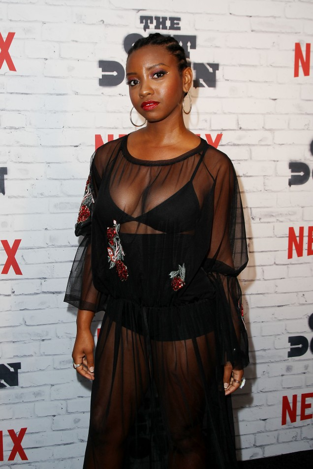 """- New York, NY - 4/5/17 - Netflix New York Kickoff Party for Part Two of """"The Get Down"""" -Pictured: Stefanee Martin -Photo by: Patrick Lewis/Starpix -Location: Irving Plaza"""