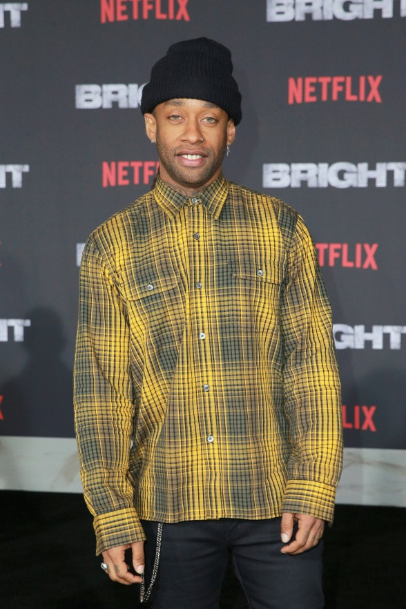 Ty Dolla Sign attends the LA Premiere of Netflix Films 'BRIGHT' on December 13, 2017 in Los Angeles, California.