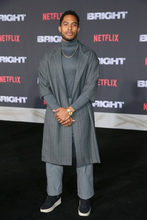 Brandon P. Bell attends the LA Premiere of Netflix Films 'BRIGHT' on December 13, 2017 in Los Angeles, California.