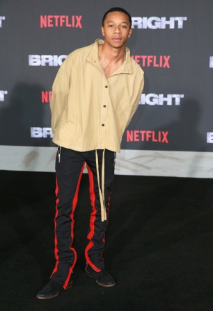 DeRon Horton attends the LA Premiere of Netflix Films 'BRIGHT' on December 13, 2017 in Los Angeles, California.
