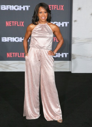 Regina King attends the LA Premiere of Netflix Films 'BRIGHT' on December 13, 2017 in Los Angeles, California.