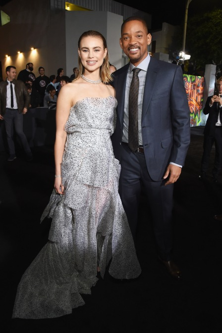 Lucy Fry (L) and Will Smith attend the LA Premiere of Netflix Films 'BRIGHT' on December 13, 2017 in Los Angeles, California.