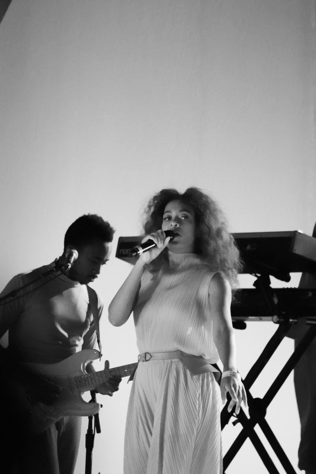 The mesmerizing Solange took the main stage Sunday night.