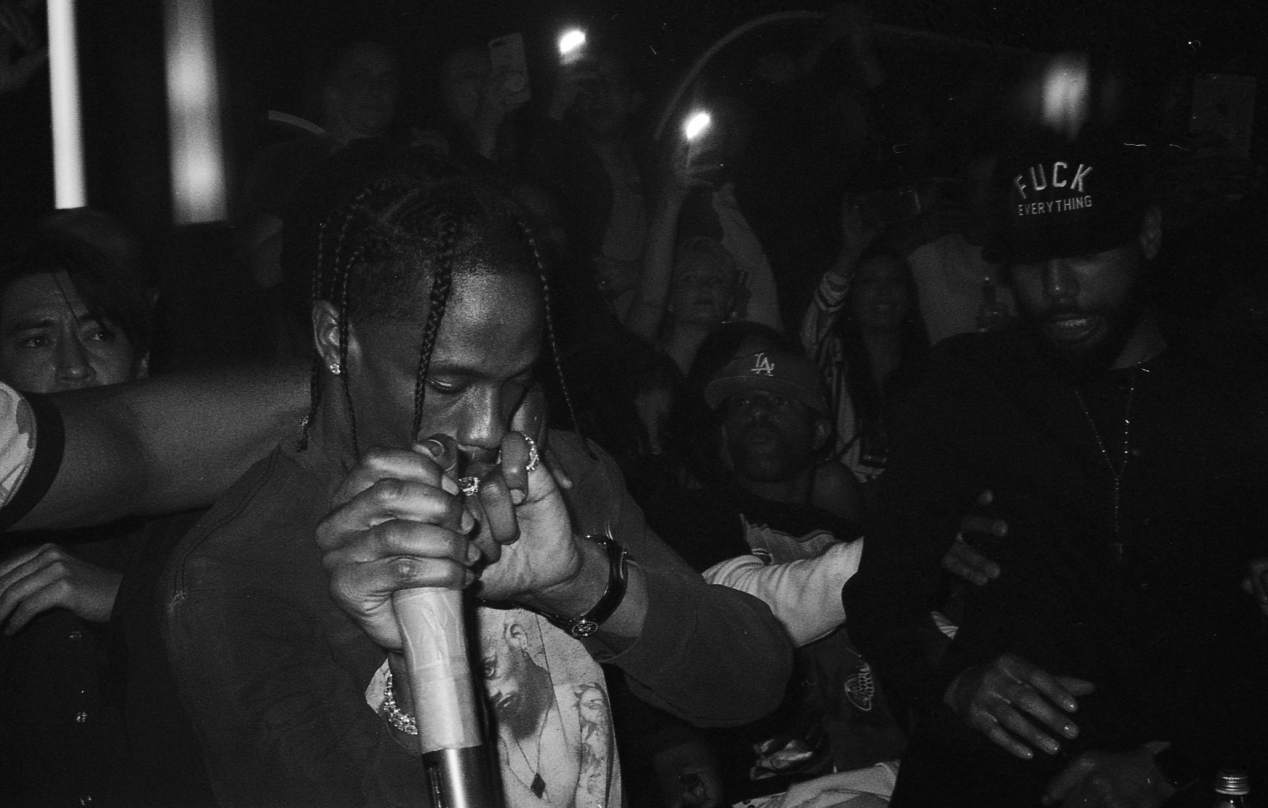Travis taking over as DJ. GOAT x Harden Party 2018